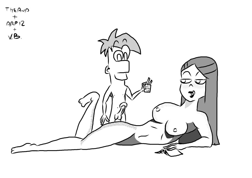 and phineas ferb from meep Cum on soles of feet